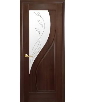 """Межкомнатные двери """"Прима"""",ПО +Р2. пленка ПВХ, фабрика """"Новый стиль"""", цвет - каштан"""