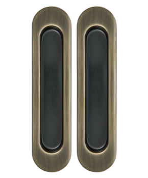 Дверные ручки - лодочки (купе) врезные под раздвижную систему. Цвет бронза