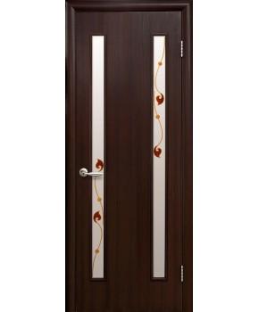 """Межкомнатные ламинированные двери """"Вера"""",ПО+Р1. фабрика """"Новый стиль"""", цвет - венге 3D"""
