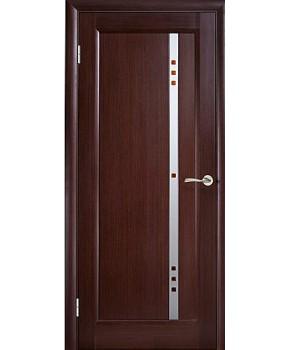 """Межкомнатные шпонированные двери """"Фиджи"""" ПО с фьюзингом.  WoodOk. Цвет - венге"""