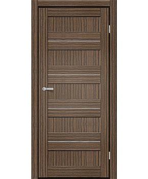 """Межкомнатные двери M 401. Пленка ПВХ. Фабрика """"Art Door"""". Цвет зебрано"""