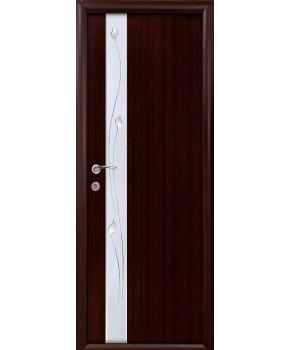 """Межкомнатные ламинированные двери """"Злата"""",ПГ+Р1. фабрика """"Новый стиль"""", цвет - венге 3D"""