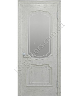 """Межкомнатные шпонированные двери """"Луидор"""" ПО.  Фабрика """"Ваш Стиль"""". Цвет - белый"""