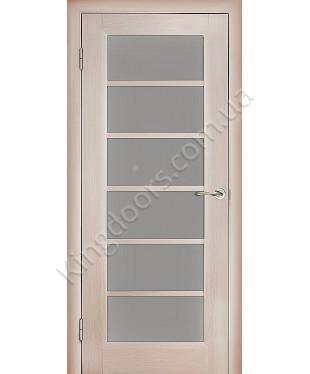 """Межкомнатные шпонированные двери """"Калипсо 1"""" ПО.  WoodOk. Цвет - сандал"""