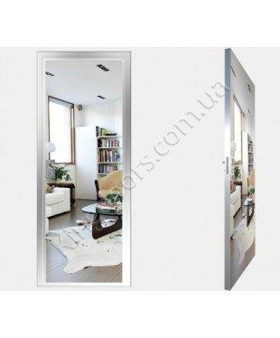 """Межкомнатные стеклокаркасные двери. Модель """"00 S"""". Фабрика Аксиома. Покрытие зеркало. Цвет серебро"""