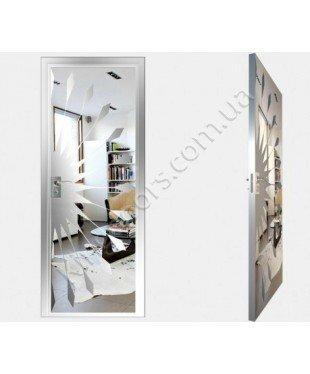 """Межкомнатные стеклокаркасные двери. Модель """"02 S"""". Фабрика Аксиома. Покрытие зеркало. Цвет серебро"""
