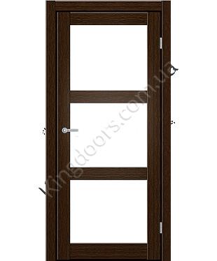 """Межкомнатные двери ART 03-02. Пленка ПВХ. Фабрика """"Art Door"""". Цвет каштан"""