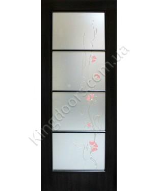 """Межкомнатные двери """"Альта 4"""" ПО. Фабрика Омис. Ламинированные. Цвет - венге"""