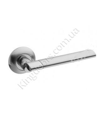 Дверная ручка на круглой розетке Модель Бристол. Цвет сатин