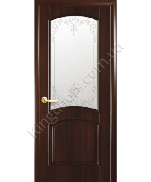 """Межкомнатные двери """"Аве"""",ПО +Р3. пленка ПВХ, фабрика """"Новый стиль"""", цвет - каштан"""