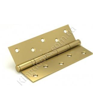 Дверные врезные универсальные петли. Длинна 125 мм. Цвет матовое золото