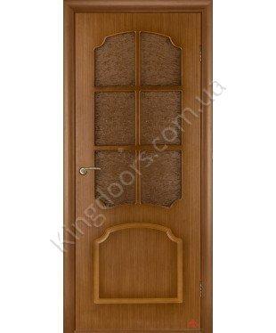 Межкомнатная дверь Виктория орех файн-лайн Э ПО