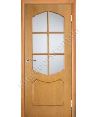 """Межкомнатные шпонированные двери """"Карина"""" ПС.  Галерея дверей. Цвет - дуб"""