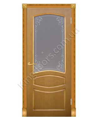 """Межкомнатные шпонированные двери """"Венеция"""" ПО.  Галерея дверей. Цвет - орех"""