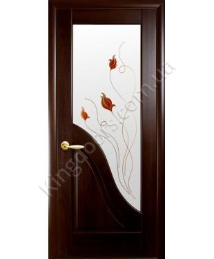 """Межкомнатные двери """"Амата"""",ПО +Р1. пленка ПВХ, фабрика """"Новый стиль"""", цвет - каштан."""