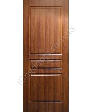 """Межкомнатные двери """"Барселона"""" ПГ. Фабрика Омис. Покрытие пленка ПВХ. Цвет - орех"""