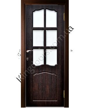 """Межкомнатные двери """"Классик"""" ПО. Покрытие пленка ПВХ. Фабрика """"Феникс"""" Цвет - тиковое дерево"""