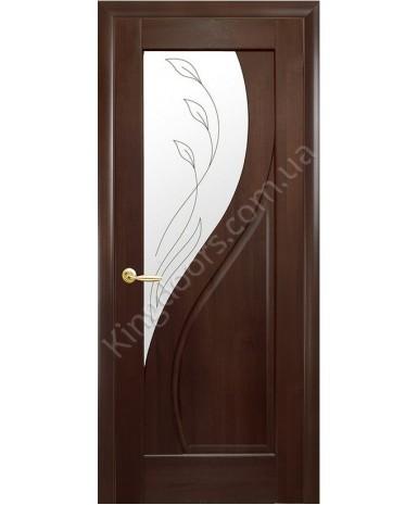 """Межкомнатные шпонированные двери """"Альфа"""" ПО.  WoodOk. Цвет - венге"""