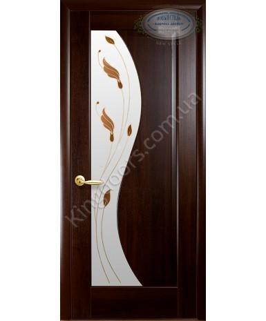 """Межкомнатные двери """"Эскада"""",ПО +Р1. пленка ПВХ, фабрика """"Новый стиль"""", цвет - каштан."""