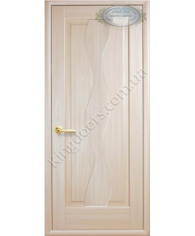 """Межкомнатные двери """"Волна"""",ПГ, пленка ПВХ, фабрика """"Новый стиль"""", цвет - ясень."""