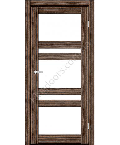 """Межкомнатные двери CTD 112. Пленка ПВХ. Фабрика """"Art Door"""". Цвет зебрано"""