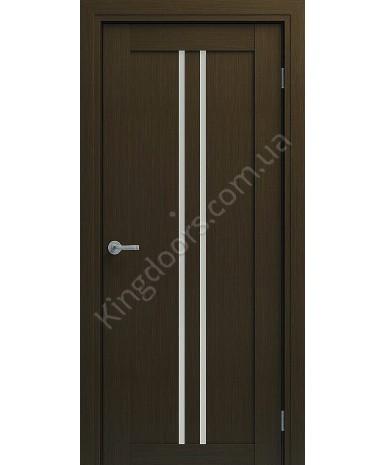 """Межкомнатные шпонированные двери """"Челси"""" ПО.  НСД. Цвет - венге шоколад"""