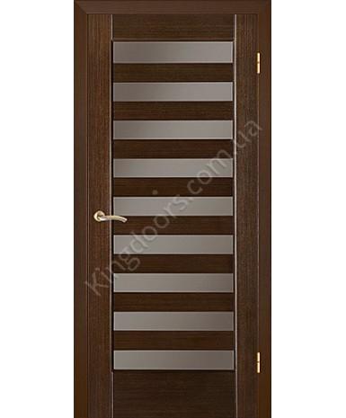 """Межкомнатные шпонированные двери """"Астория"""" ПО.  НСД. Цвет - венге шоколад"""