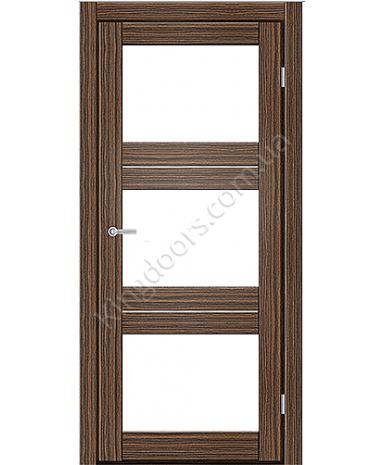 """Межкомнатные двери M 202. Пленка ПВХ. Фабрика """"Art Door"""". Цвет зебрано"""