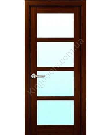 """Межкомнатные шпонированные двери """"Модерн"""" ПО.  НСД. Цвет - венге шоколад"""