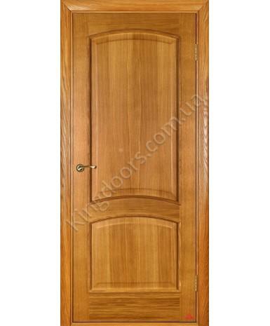 """Межкомнатные шпонированные двери """"Капри 3"""" ПГ.  Двери Белоруссии. Цвет - светлый дуб"""