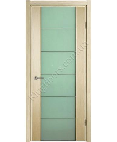 """Межкомнатные шпонированные двери """"Глазго М"""" ПО с молдингом.  НСД. Цвет - дуб классический"""