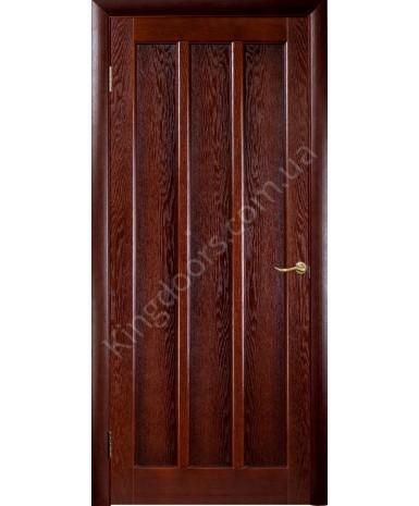 """Межкомнатные шпонированные двери """"Трояна"""" ПГ.  НСД. Цвет - каштан"""
