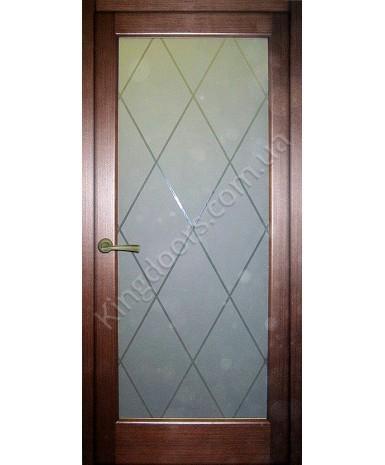 """Межкомнатные шпонированные двери """"Максима"""" ПО.  НСД. Цвет - каштан"""