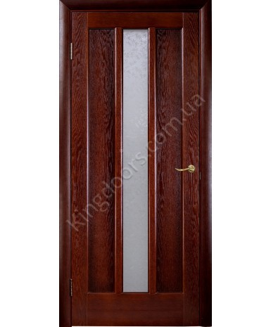 """Межкомнатные шпонированные двери """"Трояна"""" ПО.  НСД. Цвет - каштан"""