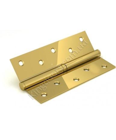 Дверные съемные врезные петли. Длинна 125 мм. Открывание ПРАВОЕ. Цвет золото