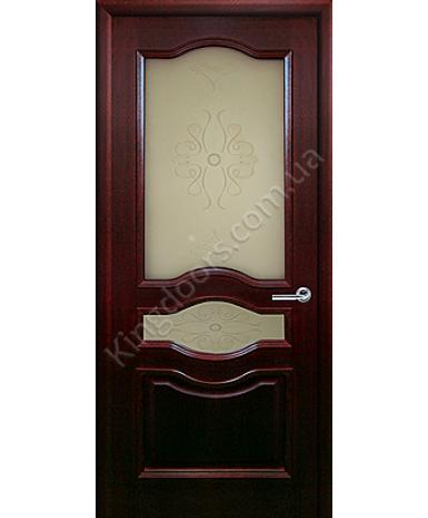 """Межкомнатные шпонированные двери """"Малиновка"""" ПО.  Двери Белоруссии. Цвет - красное дерево"""