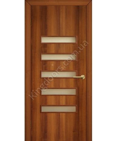 """Межкомнатные двери """"Аккорд 3"""" ПО. Фабрика Омис. Ламинированные. Цвет - орех"""