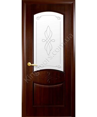 """Межкомнатные двери """"Донна"""",ПО +Р1. пленка ПВХ, фабрика """"Новый стиль"""", цвет - каштан"""
