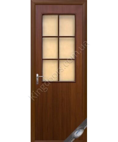 """Межкомнатные ламинированные двери """"Колори В"""" фабрика """"Новый стиль"""", цвет - орех."""