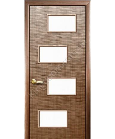 """Межкомнатные двери """"Сахара 4 S"""",ПО. пленка ПВХ, фабрика """"Новый стиль"""", цвет - золотая ольха"""