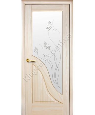 """Межкомнатные двери """"Амата"""",ПО +Р2. пленка ПВХ, фабрика """"Новый стиль"""", цвет - ясень."""