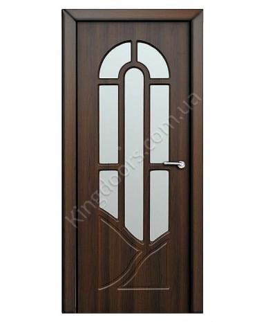 """Межкомнатные двери """"Аркадия"""" ПО. Покрытие пленка ПВХ. Фабрика """"Феникс"""" Цвет - шоколадный орех"""