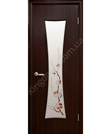 """Межкомнатные ламинированные двери """"Часы"""",ПО+Р1. фабрика """"Новый стиль"""", цвет - венге 3D"""