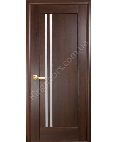 """Межкомнатные двери """"Делла"""",ПО, пленка ПВХ, фабрика """"Новый стиль"""", цвет - каштан."""