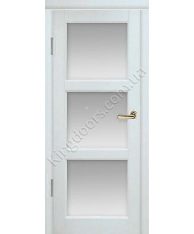 """Межкомнатные шпонированные двери """"Лестница"""" ПО.  Двери Белоруссии. Цвет - белый ясень"""