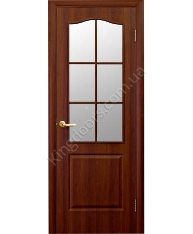"""Межкомнатные двери """"Фортис В"""",ПО. пленка ПВХ, фабрика """"Новый стиль"""", цвет - орех"""