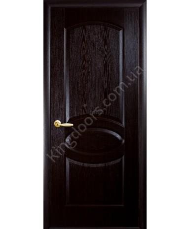 """Межкомнатные двери """"Фортис овал"""",ПГ, пленка ПВХ, фабрика """"Новый стиль"""", цвет - венге."""