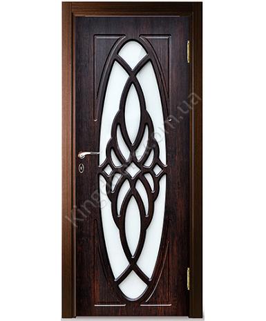"""Межкомнатные двери """"Орхидея"""" ПО. Покрытие пленка ПВХ. Фабрика """"Феникс"""" Цвет - тиковое дерево"""
