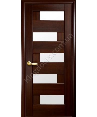 """Межкомнатные двери """"Пиана"""",ПО, пленка ПВХ, фабрика """"Новый стиль"""", цвет - каштан."""