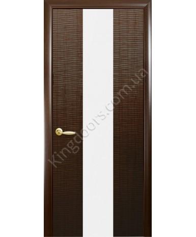 "Межкомнатные двери ""Сахара 1 Z"",ПГ. пленка ПВХ, фабрика ""Новый стиль"", цвет - каштан"